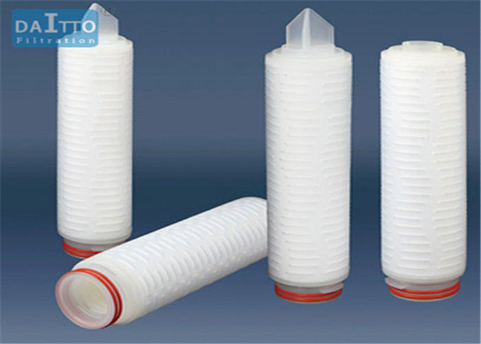 Efficient Polypropylene Pleated Filter Cartridge Wide Chemical Compatibility HPPES-X Series